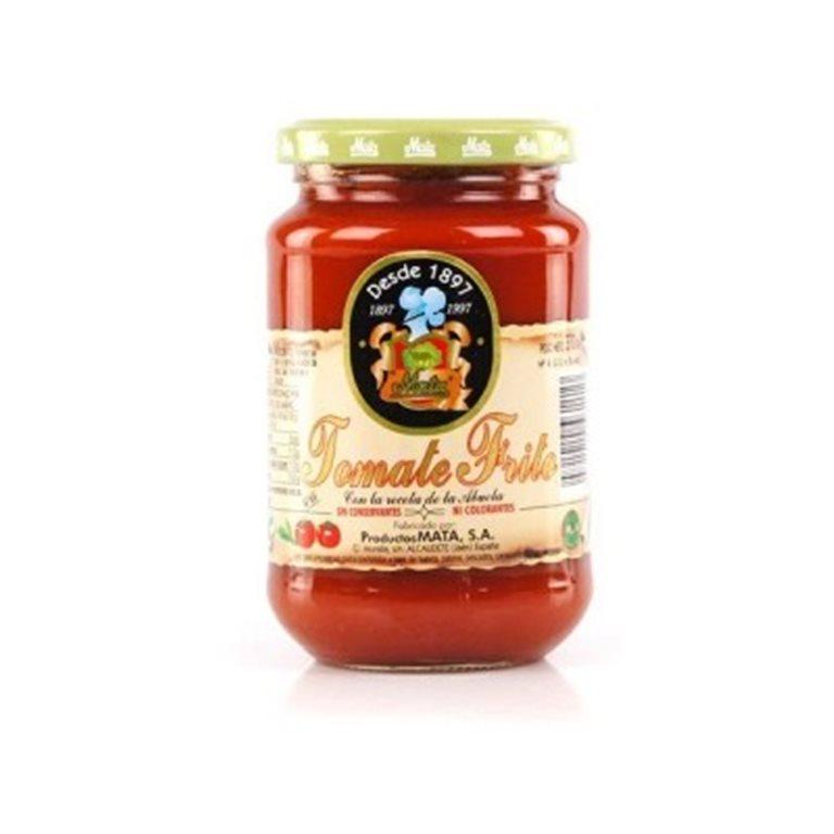 "Tomate frito en aceite de oliva ""Mata"". Frasco de 370 gr., 1 ud"