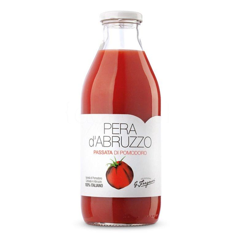 Tomate Natural Triturado Pera d'Abruzzo 250gr. Verde Abruzzo. 12un., 1 ud