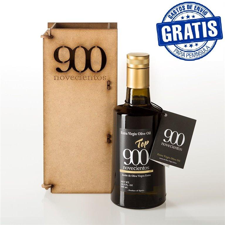 Top 900, 500 ml. Caja de madera., 1 ud