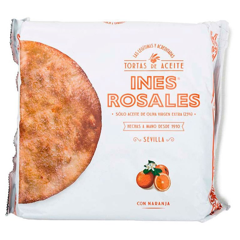 Torta de aceite con naranja Ines Rosales - 4 ud - 120 g.