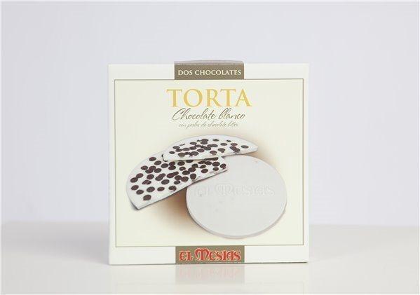 Torta de Chocolate Blanco con Perlas de Chocolate Bitter