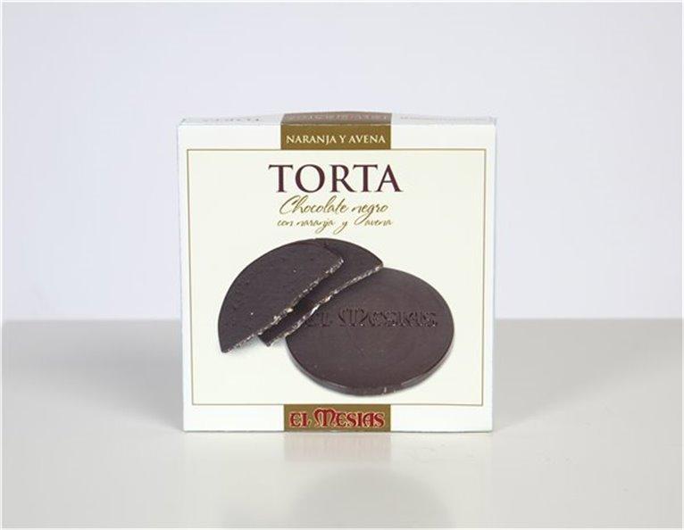 Torta de Chocolate Negro Con Avena y Naranja