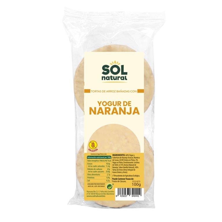 Tortas de Arroz con Yogur y Naranja Sin Gluten Bio 100g
