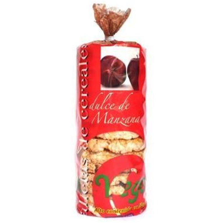 Tortas de Arroz Integral con Dulce de Manzana Sin Gluten Bio 250g, 1 ud
