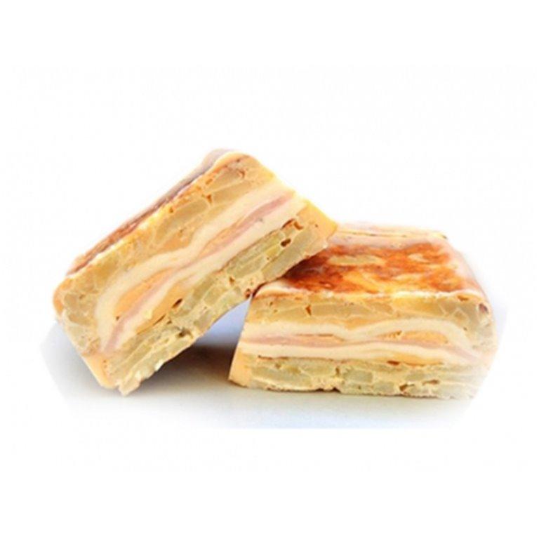 Tortilla rellena jamón y queso