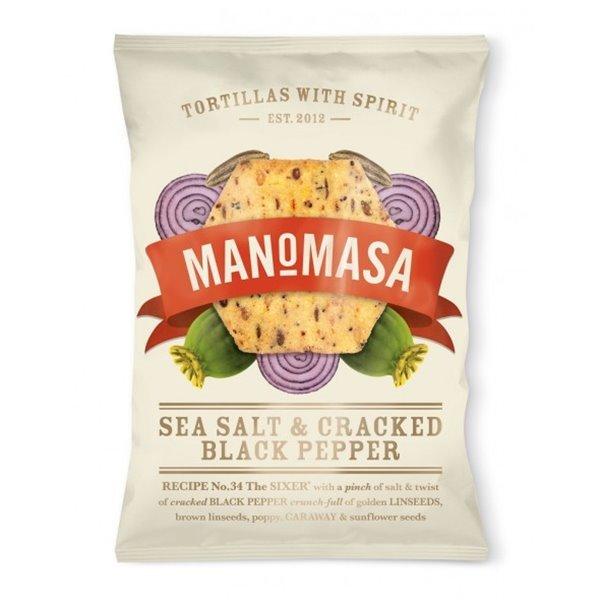 Tortillas Chips de Sal y Pimienta 160 gr. Manomasa