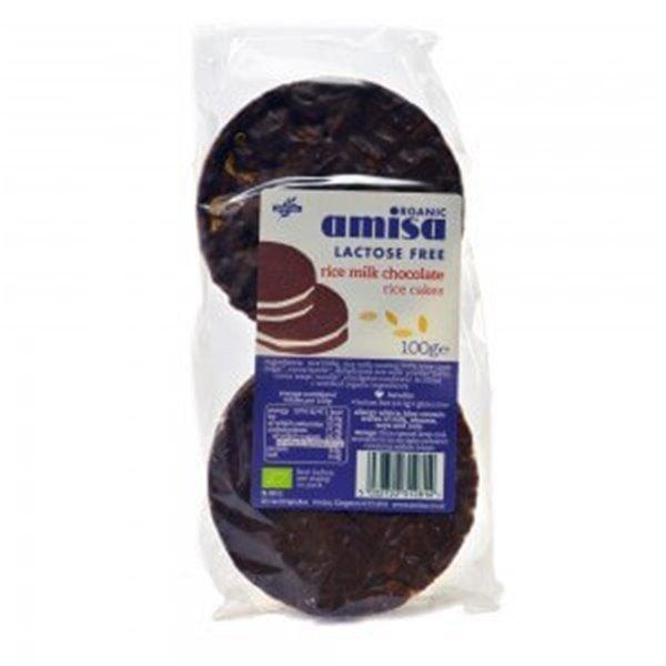 Tortitas de arroz con chocolate - Amisa