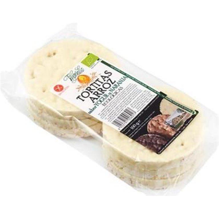 Tortitas de Arroz con Yogur y Naranja Sin Gluten Bio 100g, 1 ud