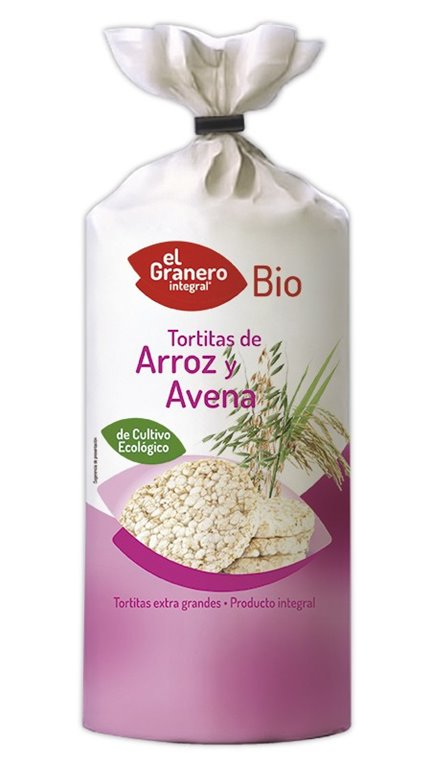 Tortitas de Arroz Integral y Avena Bio 120g