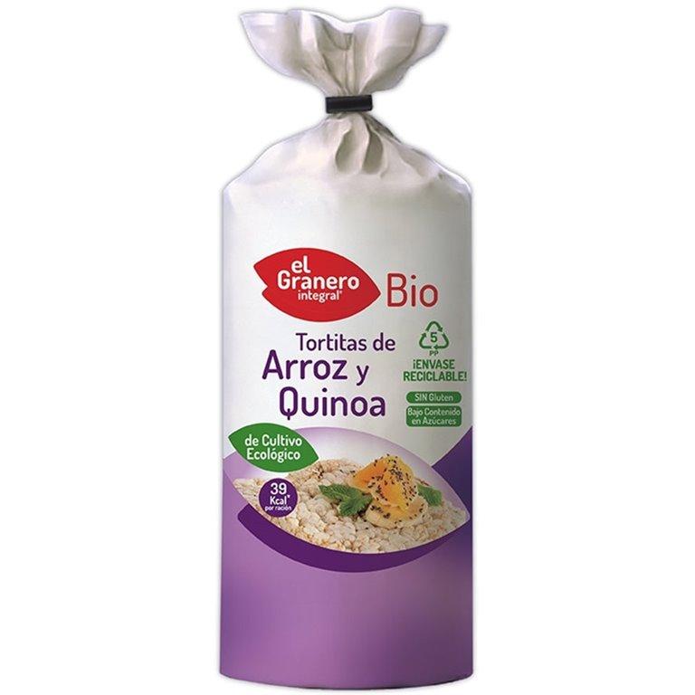 Tortitas de Arroz y Quinoa Sin Gluten Bio 120g, 1 ud