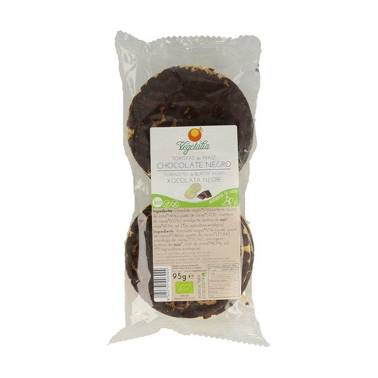 Tortitas de maíz chocolate negro, 95 gr