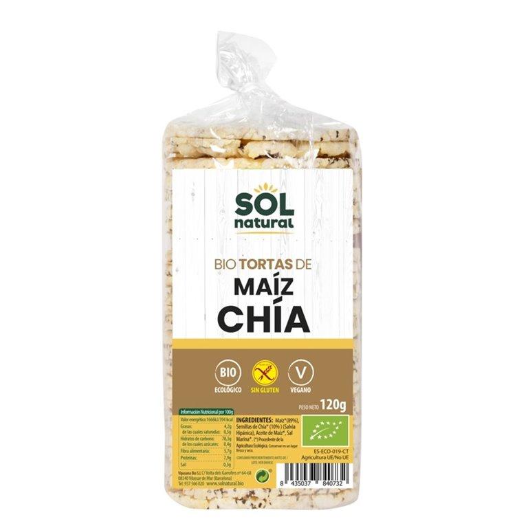 Tortitas de Maiz con Chia Sin Gluten Bio 120g