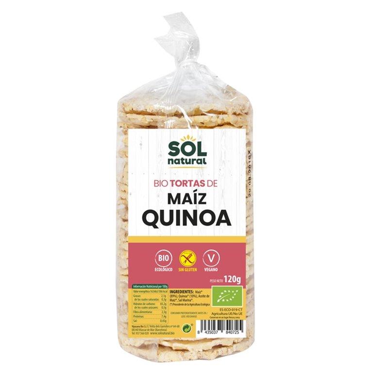Tortitas de Maíz con Quinoa Sin Gluten Bio 120g, 1 ud