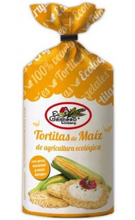 Tortitas de maíz, 120 gr