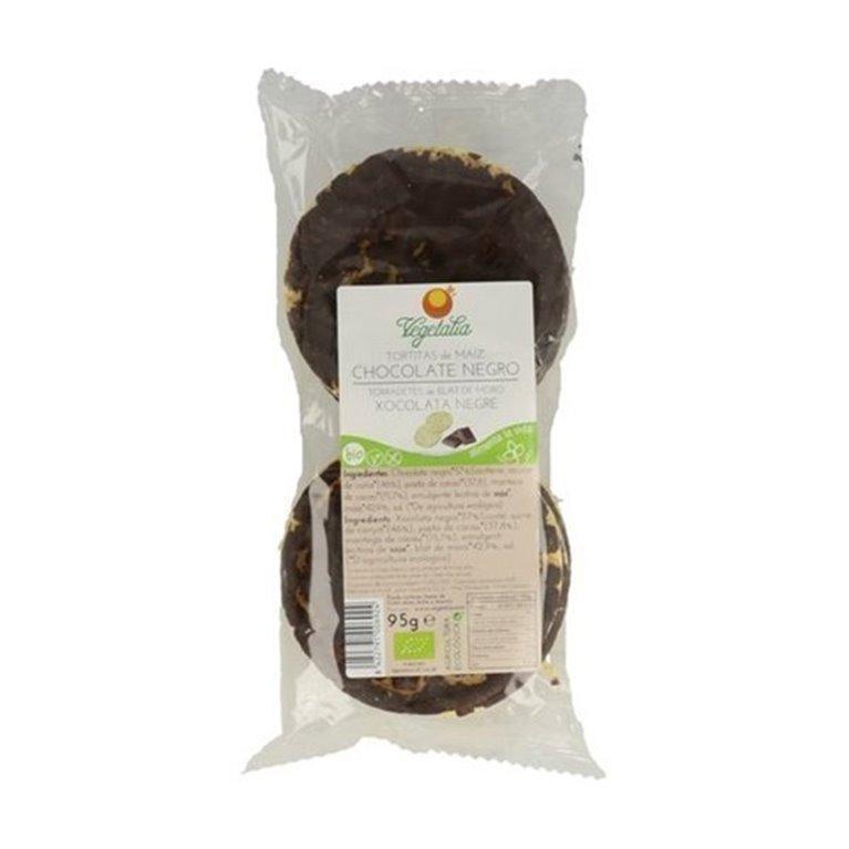 Tortitas de maíz y chocolate negro 95g