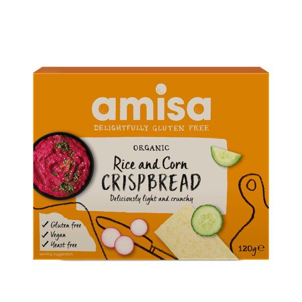 Tosta crujiente de maíz y arroz BIO - Amisa