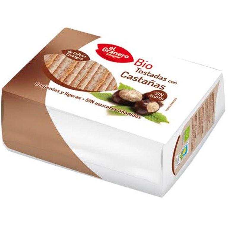 Tostadas con Castaña Sin Gluten Bio 90g