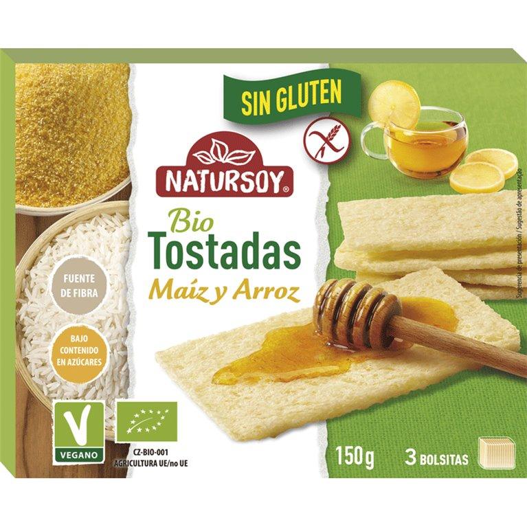 Tostadas de Maíz y Arroz Sin Gluten Bio 150g