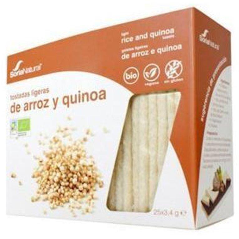 Tostadas Ligeras de Arroz Integral y Quinoa Sin Gluten Bio 95g