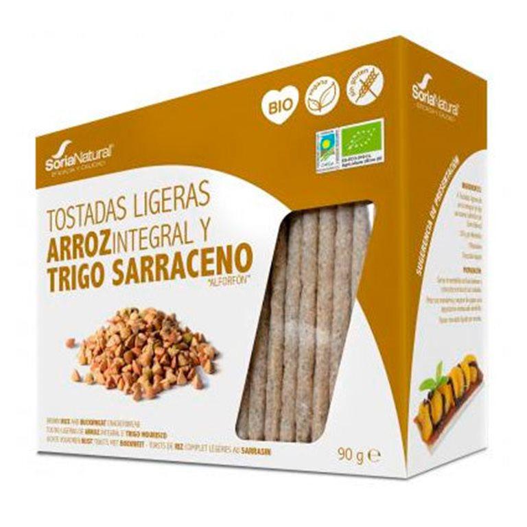 Tostadas Ligeras de Arroz Integral y Trigo Sarraceno Sin Gluten Bio 100g
