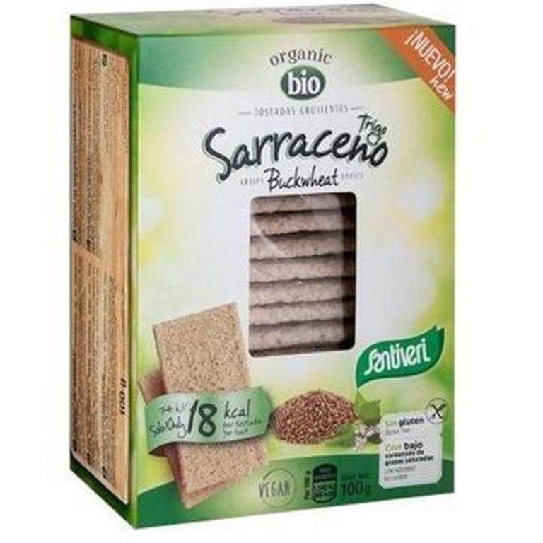 Tostadas Ligeras de Trigo Sarraceno Sin Gluten Bio 100g, 1 ud