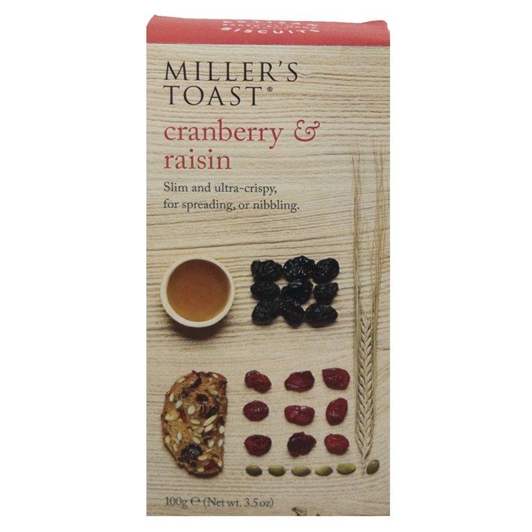 Tostaditas de Arándanos y Pasas 100gr. Miller's Toast. 6un., 1 ud