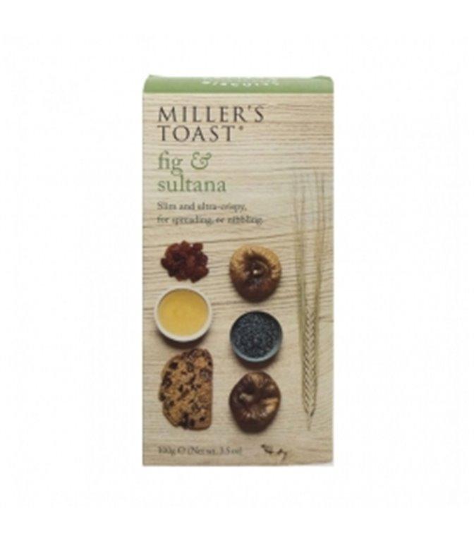 Tostaditas de Higos y Pasas 100gr. Miller's Toast. 6un.