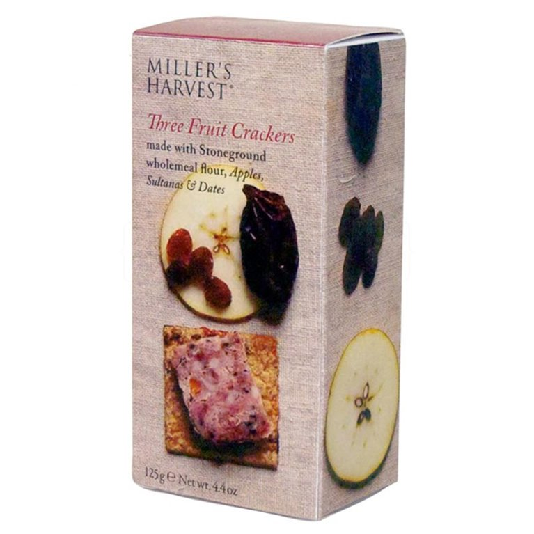 Tostaditas de tres frutas 125gr. Miller's Haverst. 12un., 1 ud