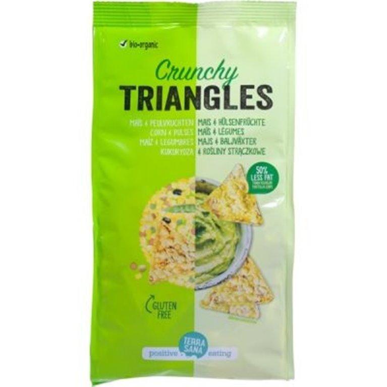 Triángulos crunchy de maíz-legumbres, 80 gr