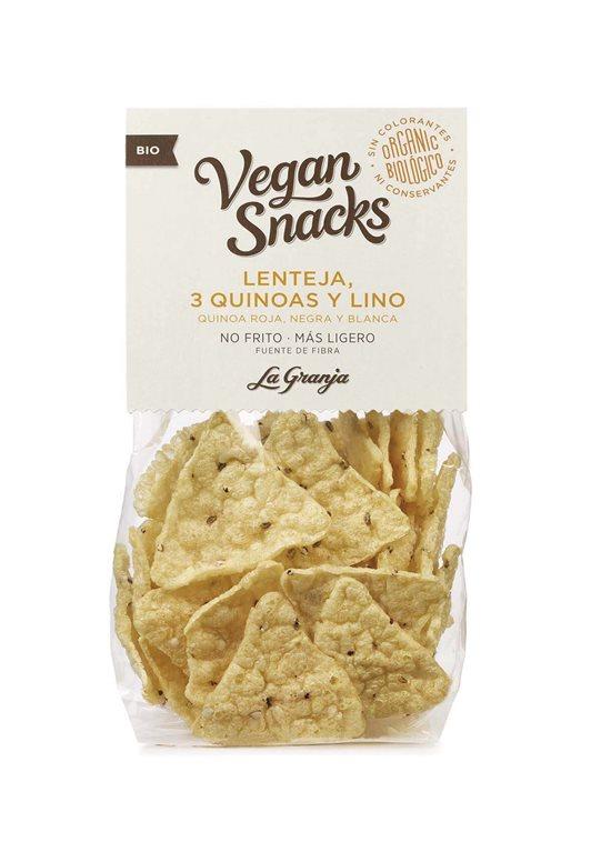 Triángulos de lenteja, tres quinoas y lino BIO - La granja