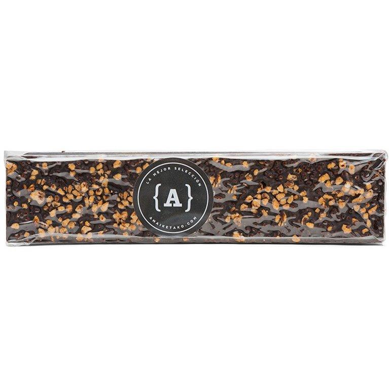 Turrón artesano de chocolate crujiente