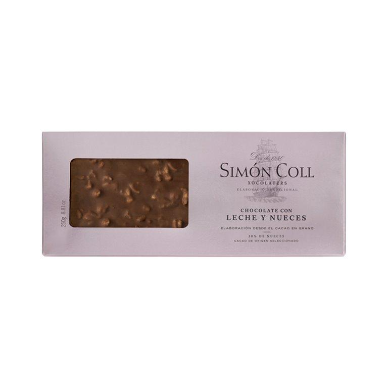 Turrón de Chocolate con leche y nueces 250g