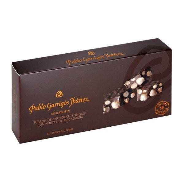 Turrón de Chocolate Fondant con Nueces de Macadamia