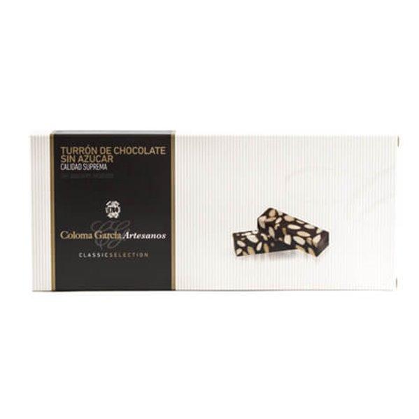 Turrón de chocolate sin azúcares añadidos Coloma García