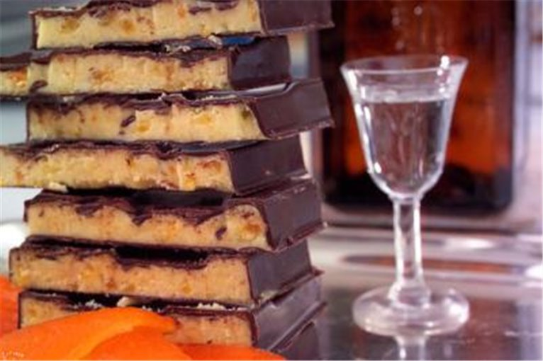 Turrón Puyet Chocolate y licor de naranja, 1 ud