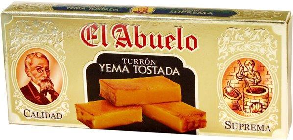 Turron yema tostada el Abuelo 300g.