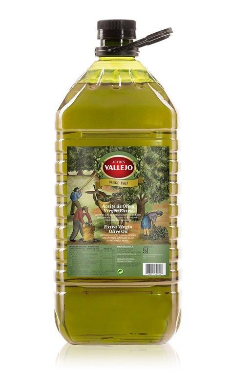 Vallejo. Aceite de oliva Picual. 5 Litros.