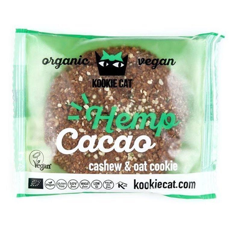 Vegan cookie de cáñamo y cacao, 50 gr