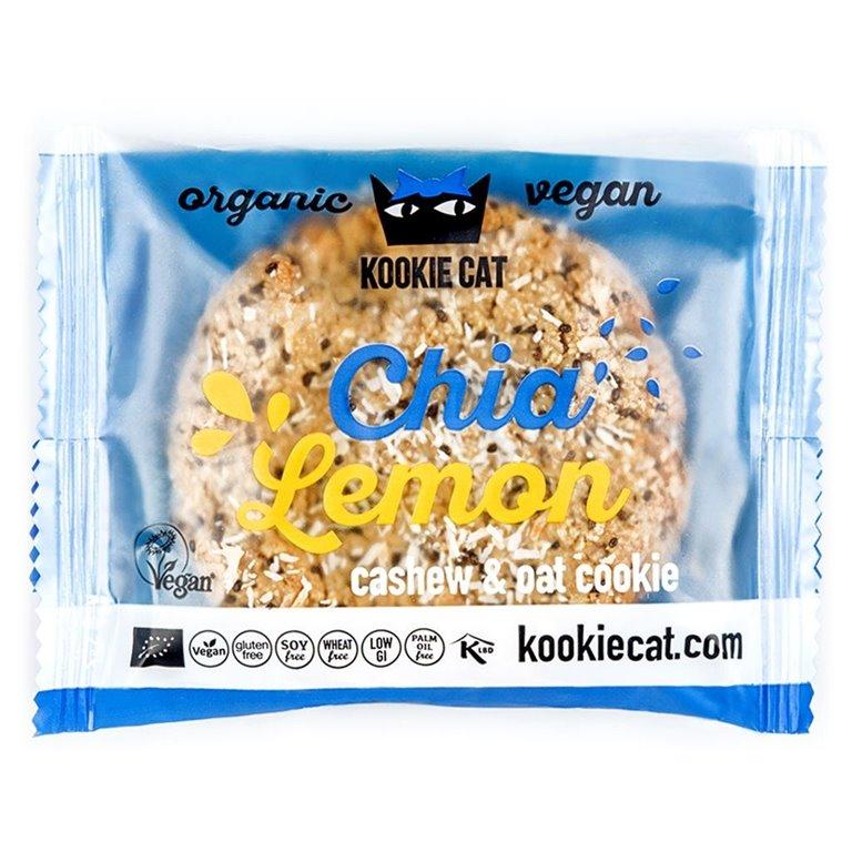 Vegan cookie de chía y limón, 50 gr