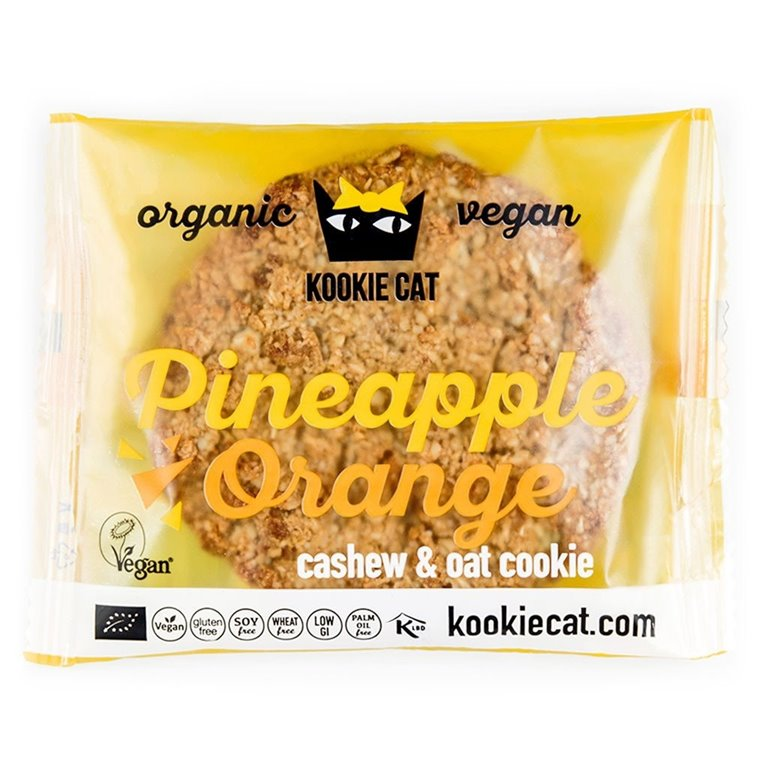 Vegan cookie de piña y naranja, 50 gr