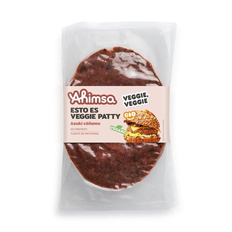 Veggie Patty Azukis y Cañamo Bio Ahimsa, 150 gr