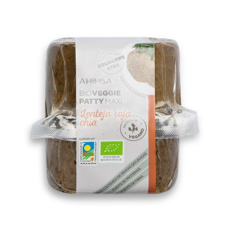 Veggie Patty Maxi Quinoa y Espirulina 600 gr BIO AHIMSA