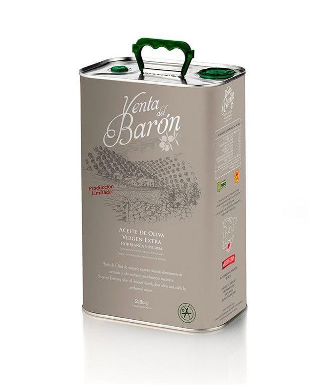 Venta del Barón. Aceite de Oliva Picudo. Lata de 2,5 litros, 1 ud
