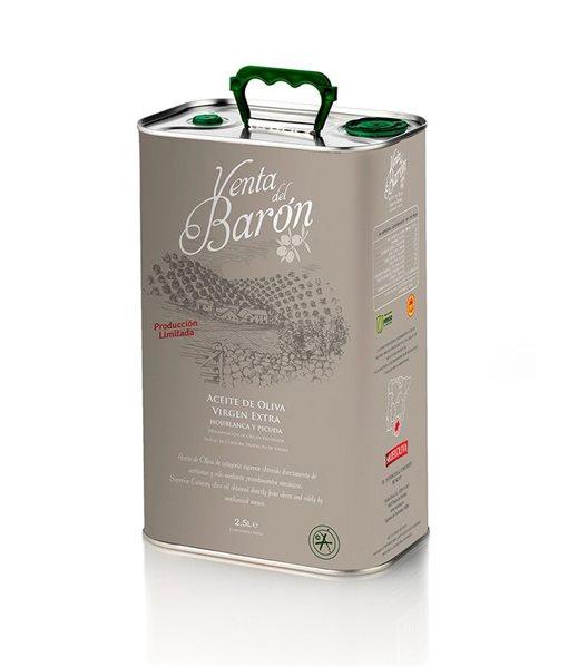 Venta del Barón. Aceite de Oliva Picudo. Lata de 2,5 litros
