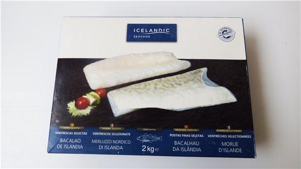Ventrescas selectas de bacalao ultracongeladas