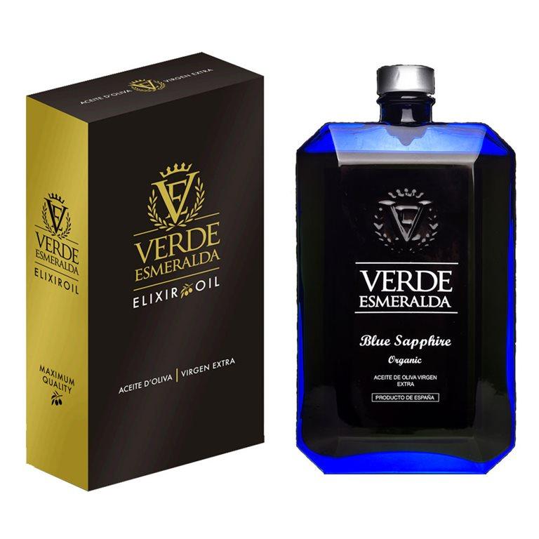 Emerald Green - Blue Sapphire - Organic - Picual - Case 500 ml bottle
