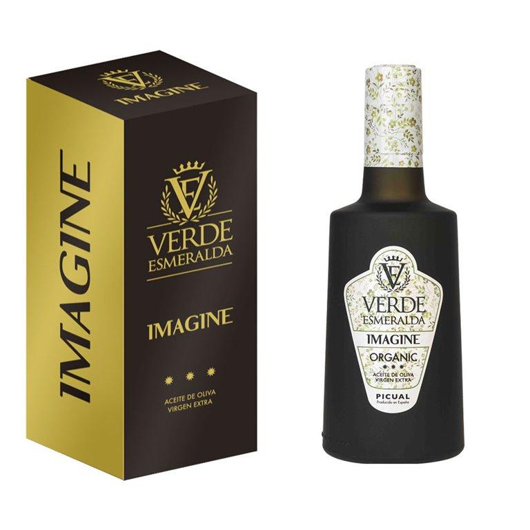 Verde Esmeralda - Imagine - Organic Picual - Estuche Botella 500 ml