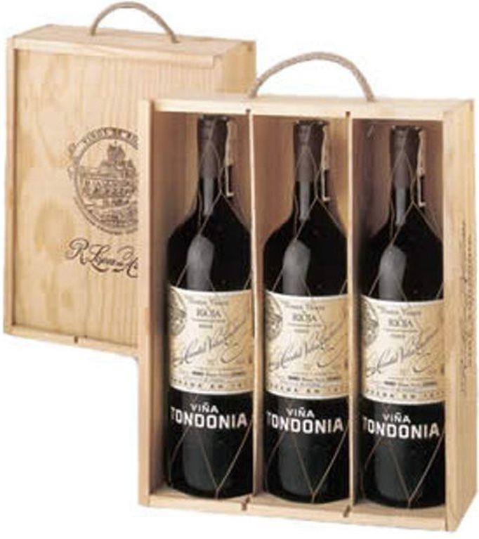 Viña Tondonia Reserva Estuche de Madera 3 botellas, 6 ud