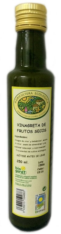 Vinagreta a los frutos secos.