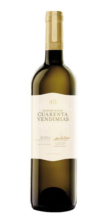 Vino Blanco Cuatro Rayas Cuarenta Vendimias Sauvignon